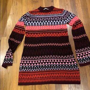 McQ wool snowflake mini sweater dress S